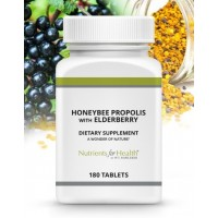 Honeybee Propolis with Elderberry, 180 tablets