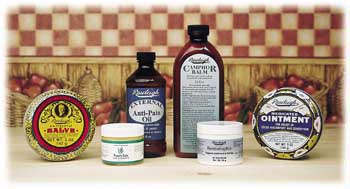 Antispetic Salve, Medicated Ointment, Camphor Balm and other Rawleigh Products